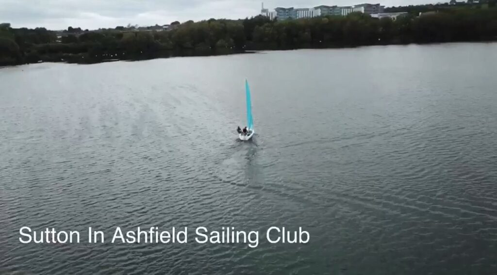 Mike and Luke sail the Reservoir